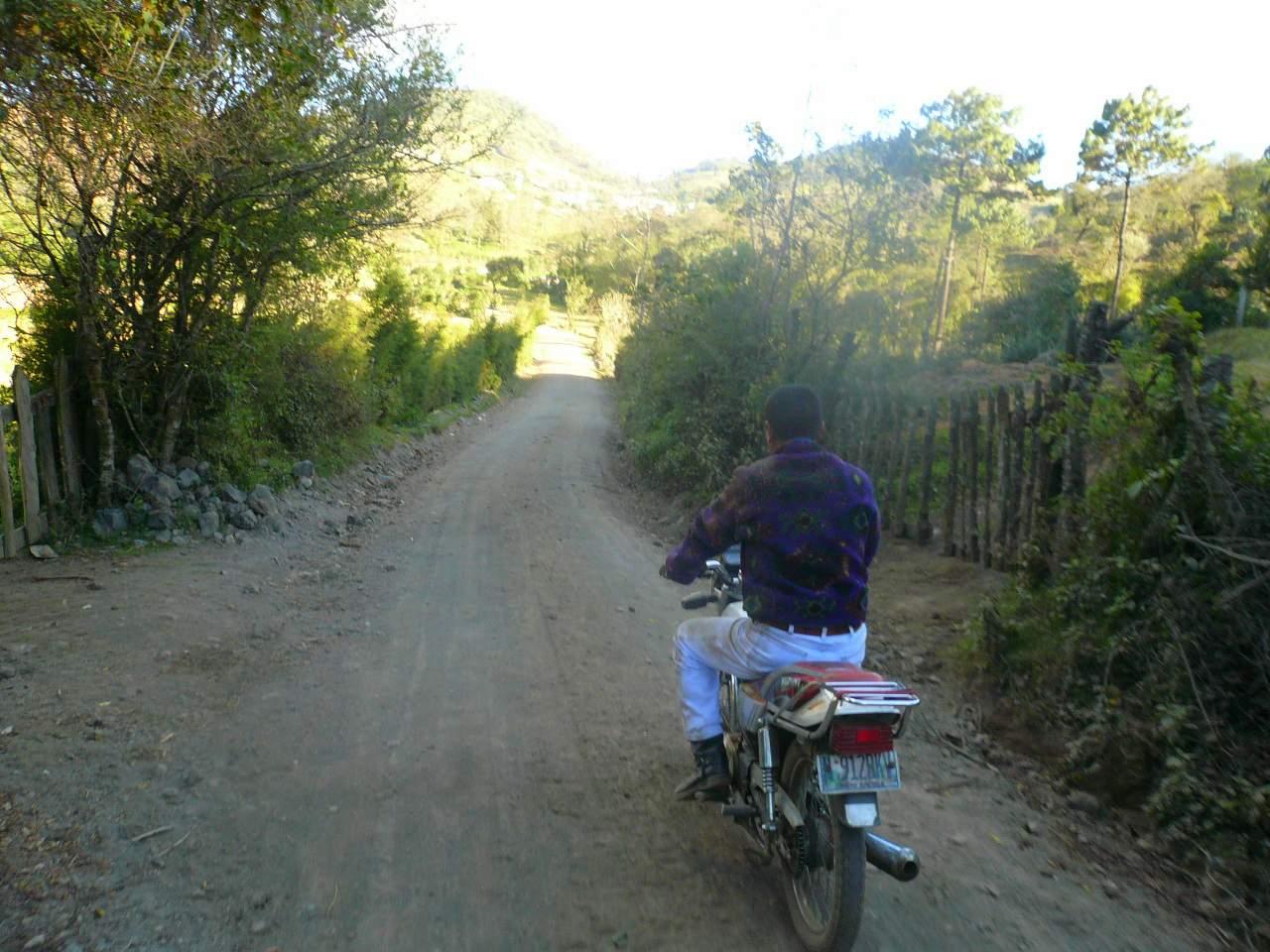 Carlos on his Suzuki motorbike.