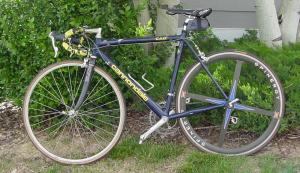 My Cannondale-turned-commuter bike.