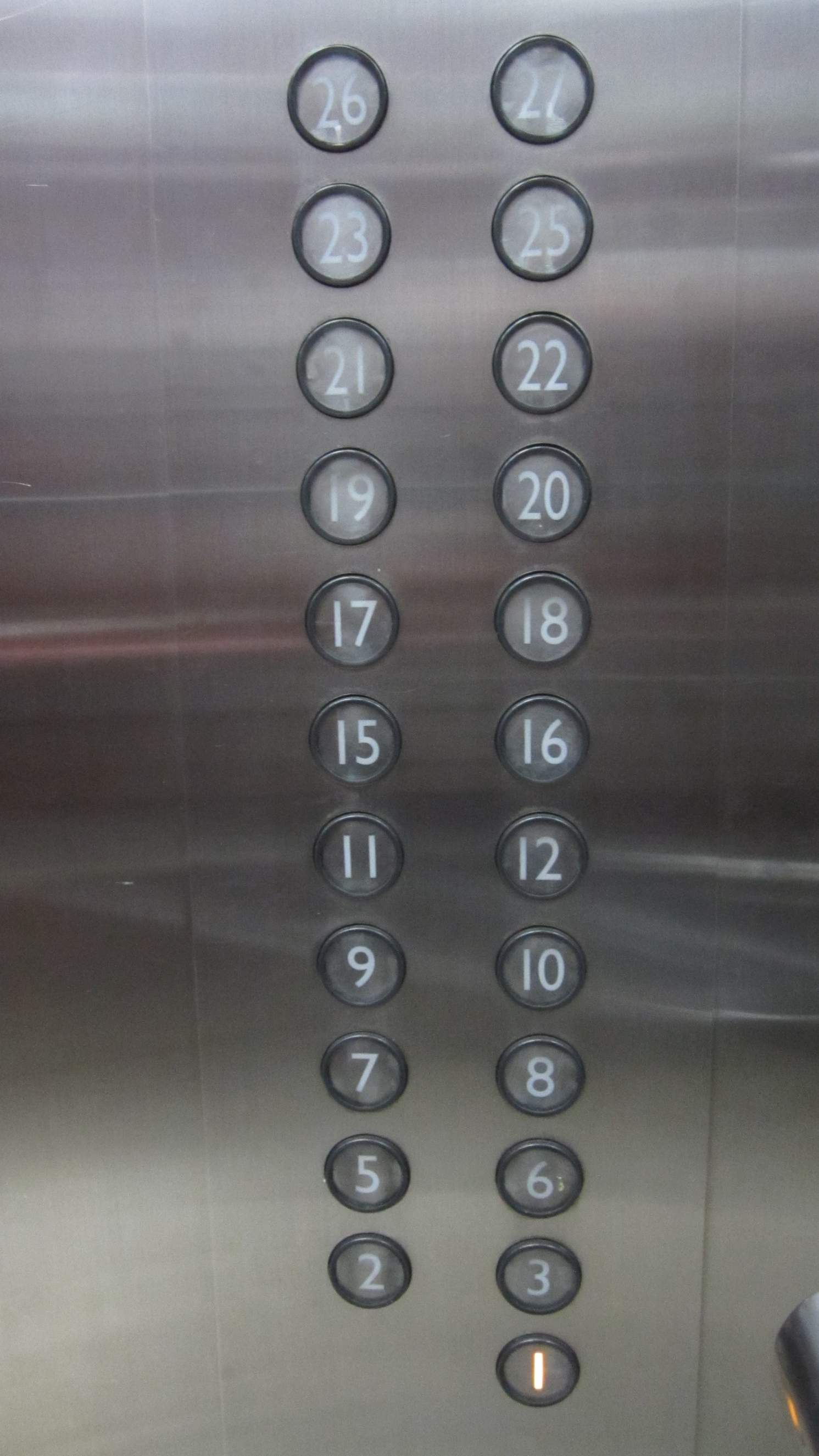 Floors 4, 13, 14, and 24 were missing from this hotel elevator in Noble Crown Hotel in Wuxi, China.