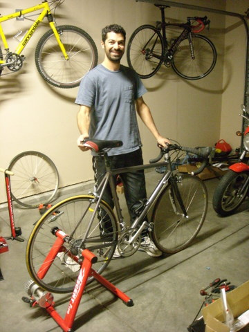 Dave and I were able to transfer the components from his old bike to his new bike in about seven hours.  Here it is!