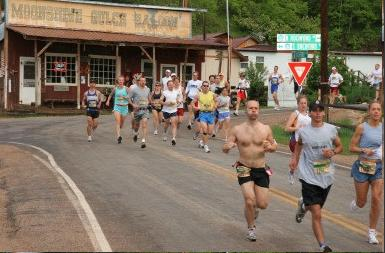 The race has begun!  You can see me on the outside lane.  Photo: brightroom.com.