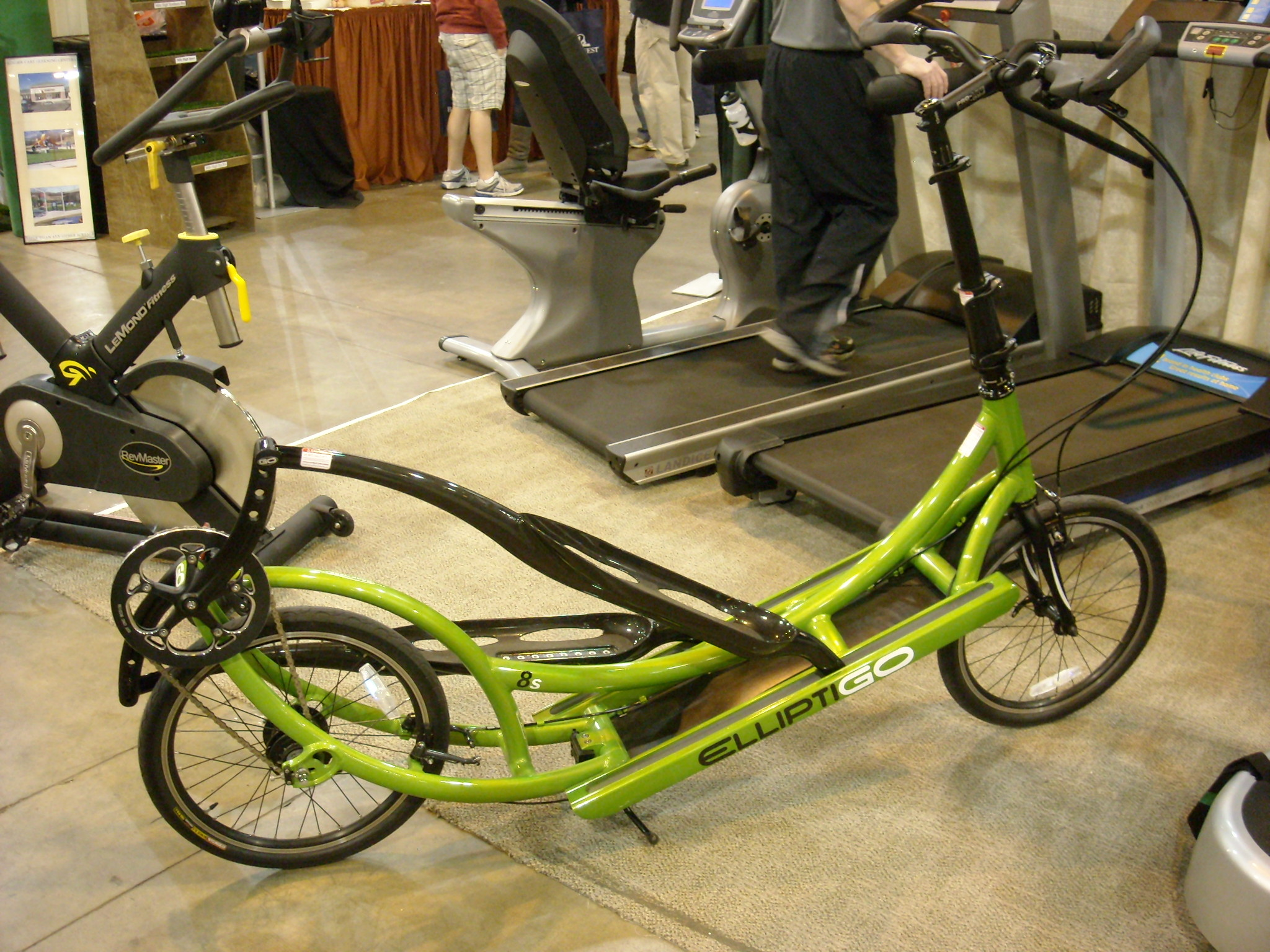 An Elliptical Bicycle.