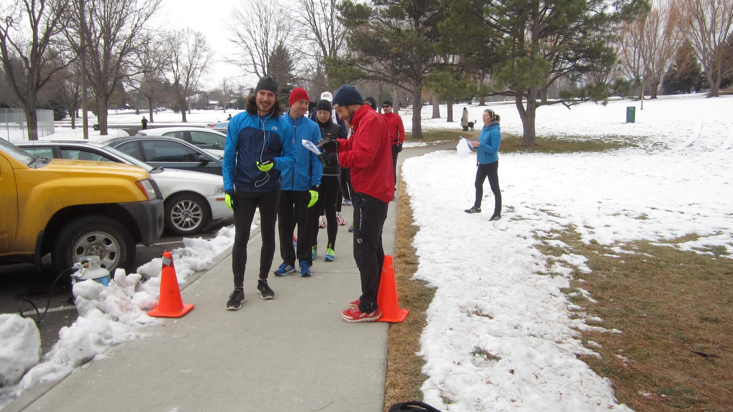 Hector at the start of the Edora Park 8k.