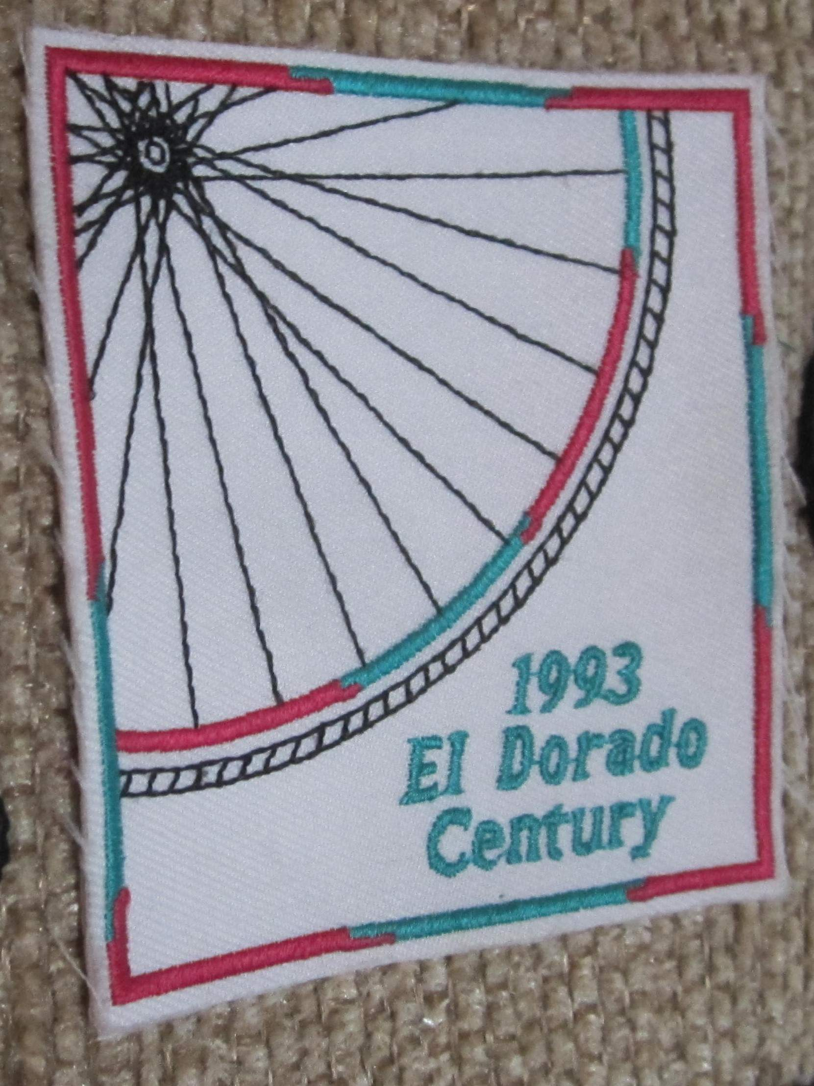 1993 El Dorado Century cycling patch
