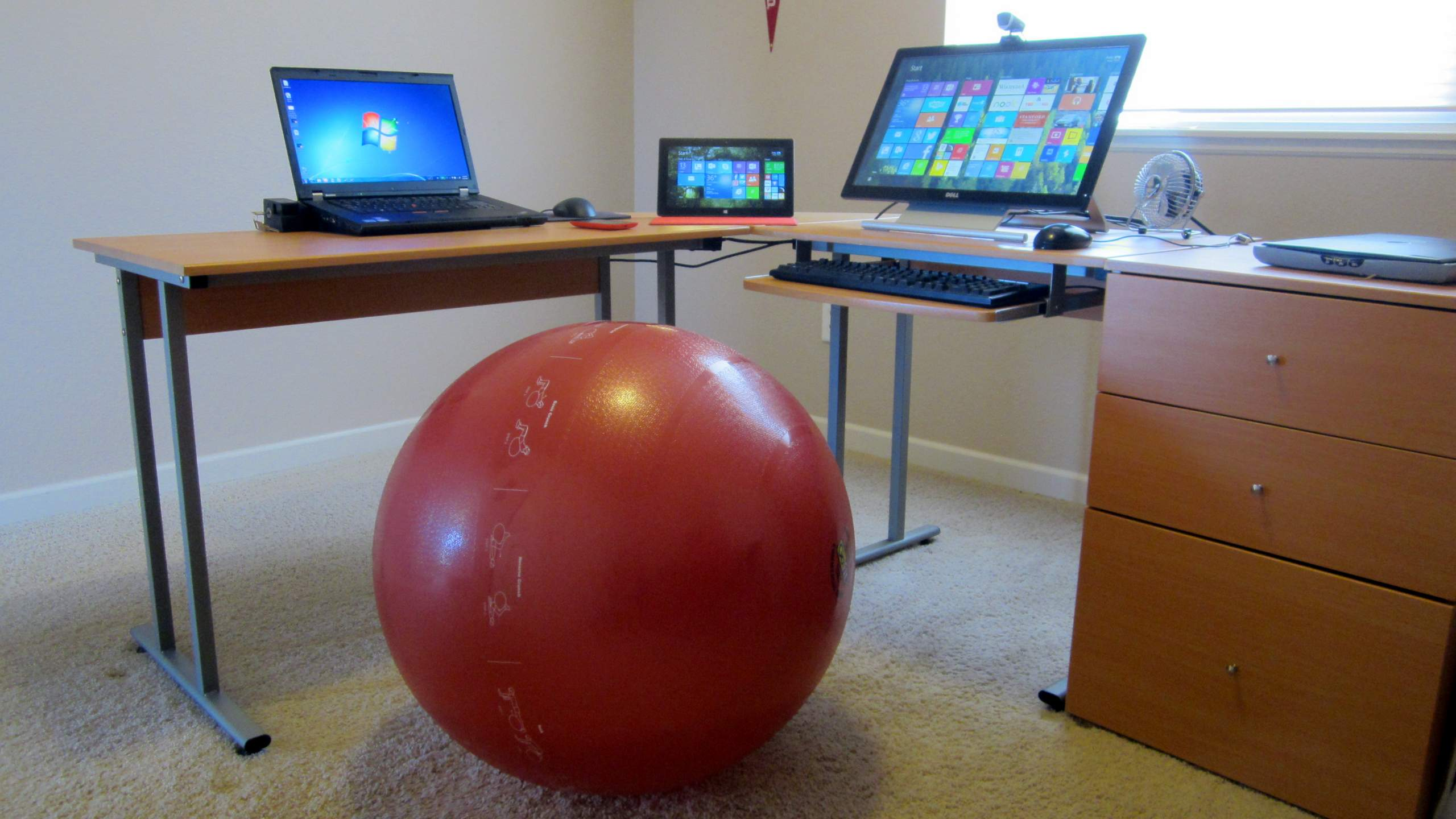 The exercise ball in my office.