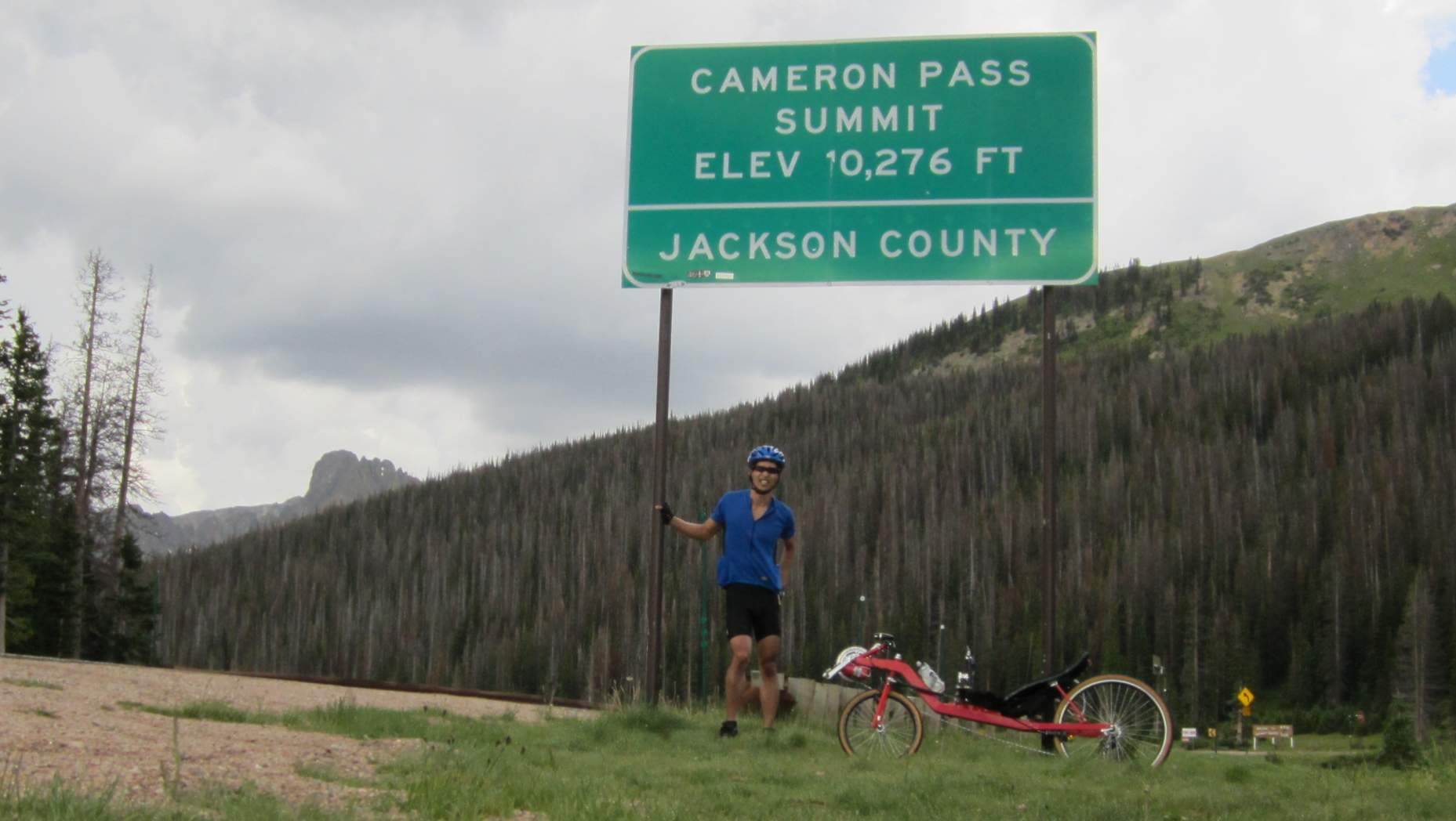 [Mile 70] Made it to the top of Cameron Pass.