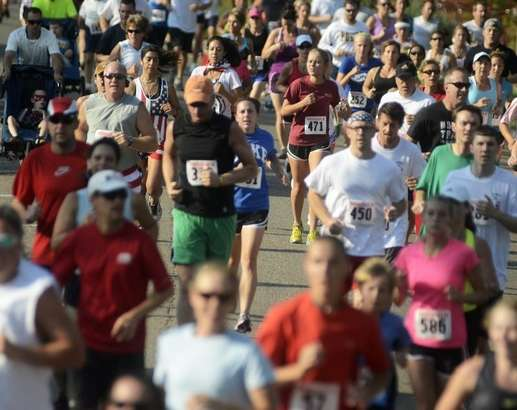 A thousand runners, joggers and walkers participated in the Firekracker 5k. Photo: Coloradoan.