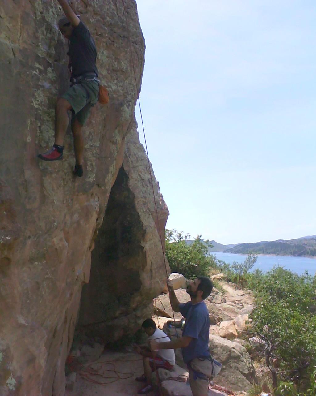 Raphael Gay, Mehdi Partou, 5.10 climb, Rotary Park