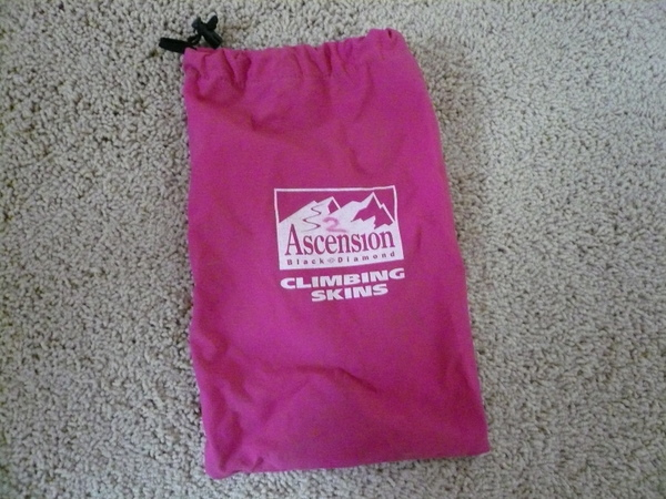 pink Black Diamond Ascension climbing skins bag