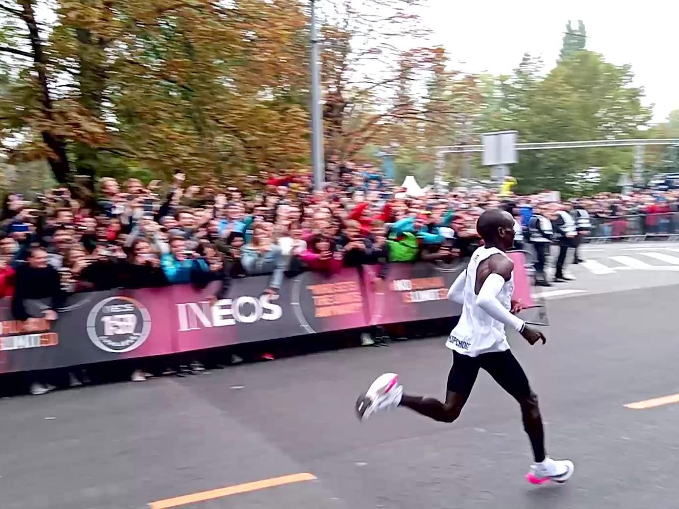 Eliud Kipchoge running a sub-2-hour marathon