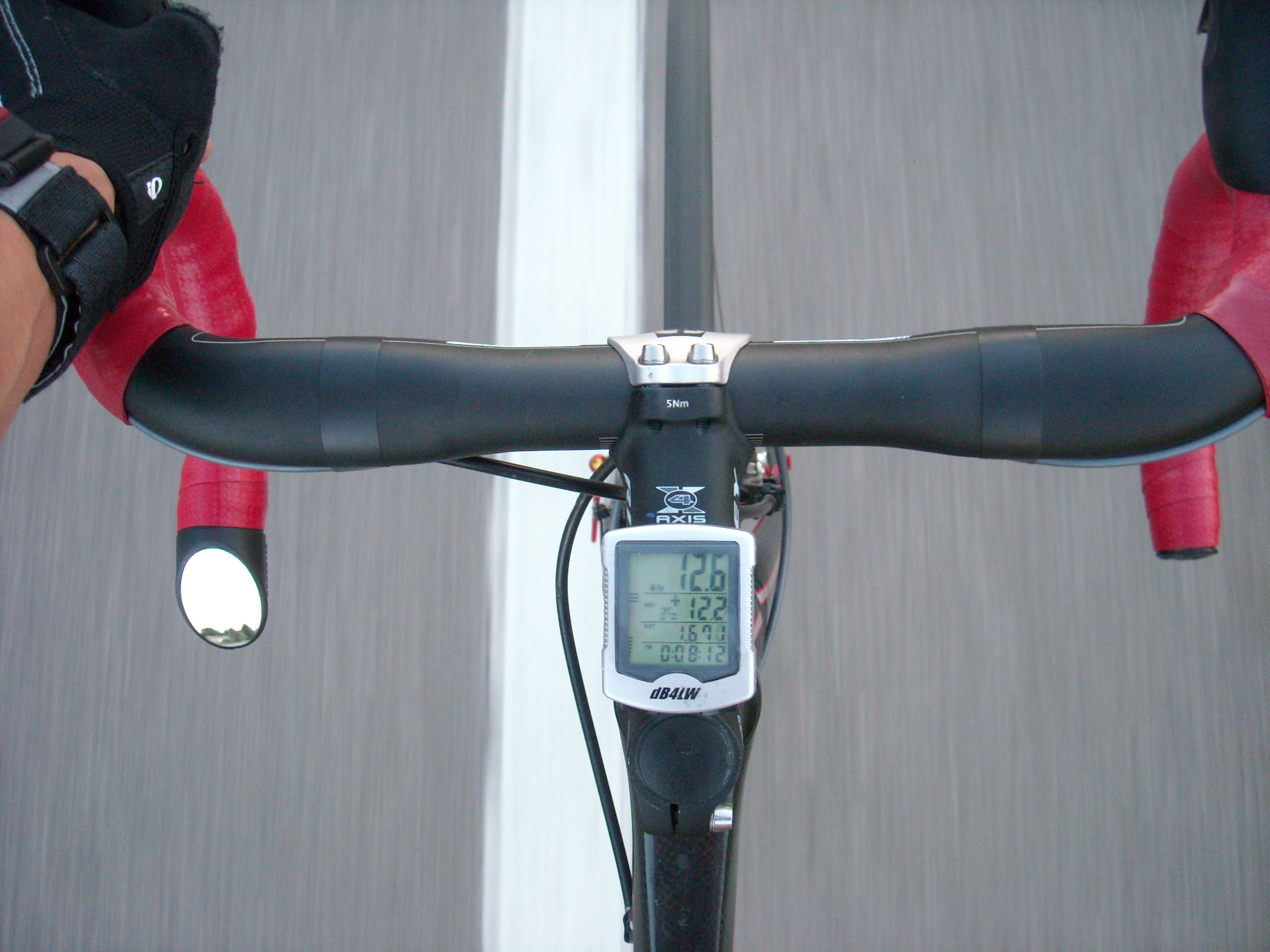 Italian Road Bike Mirror, top view