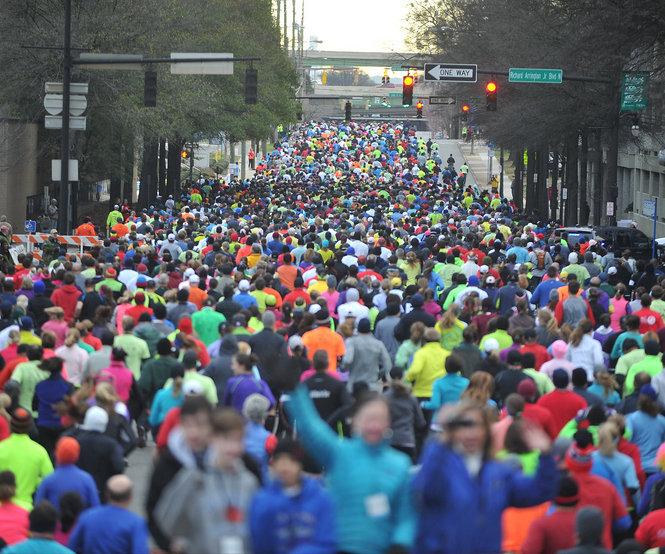 The start of the Mercedes Marathon in Birmingham, Alabama. Photo: Birmingham News.