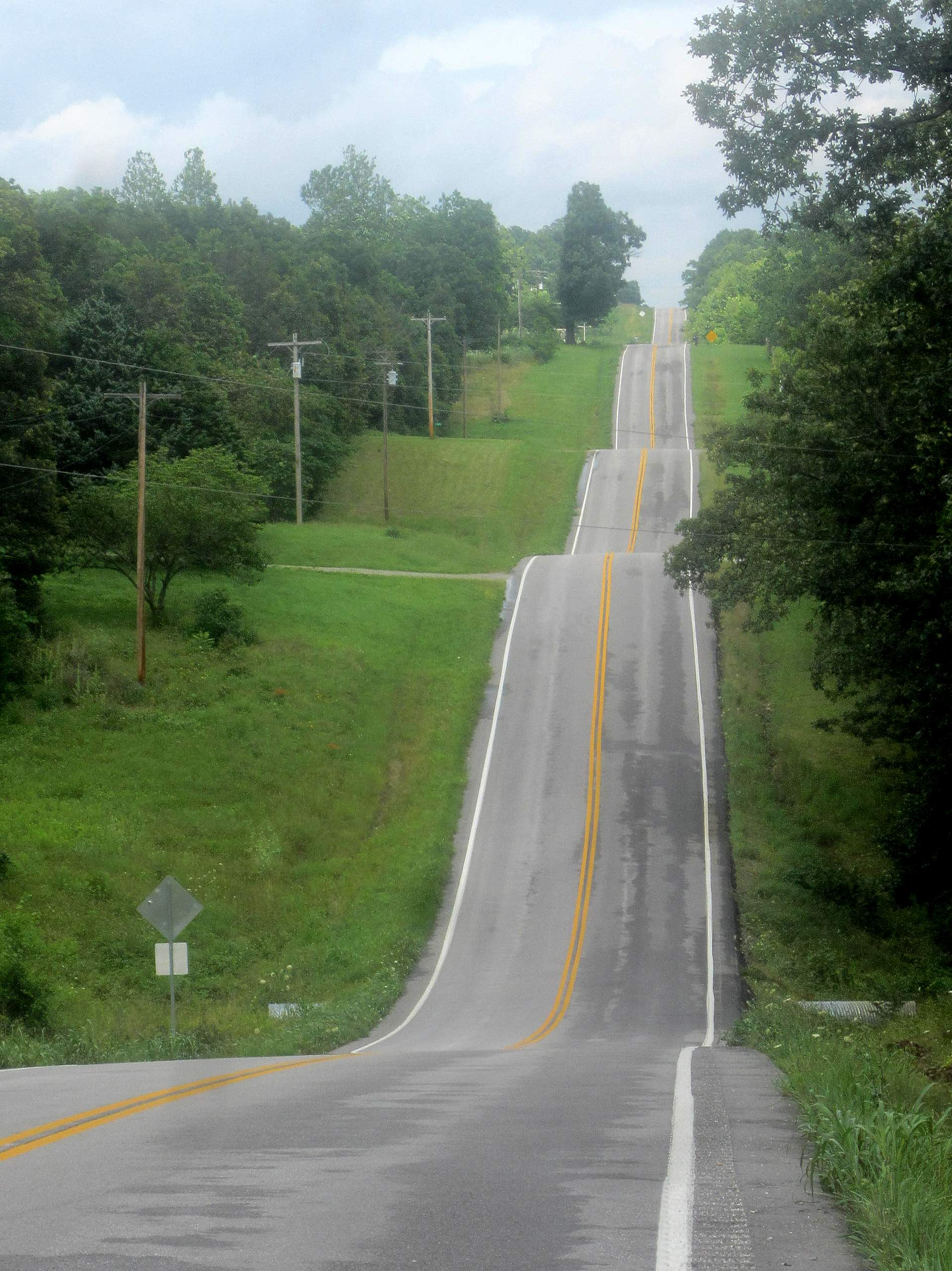 Roller coaster roads in the Ozark Hills.