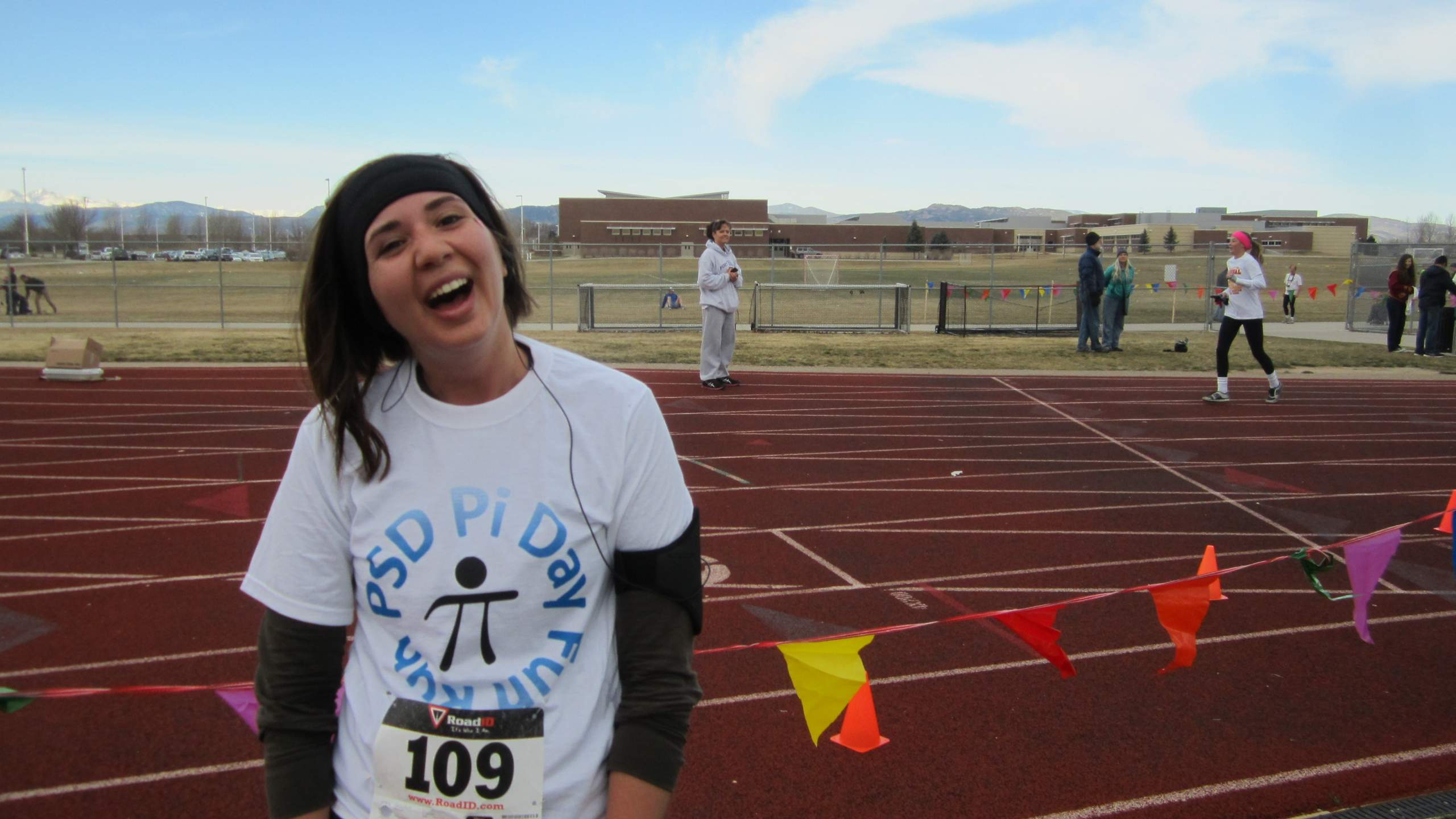 Diana after a great effort at the PSD Pi Day Fun Run 5k.