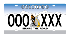Featured photo for Share the Road License Plates