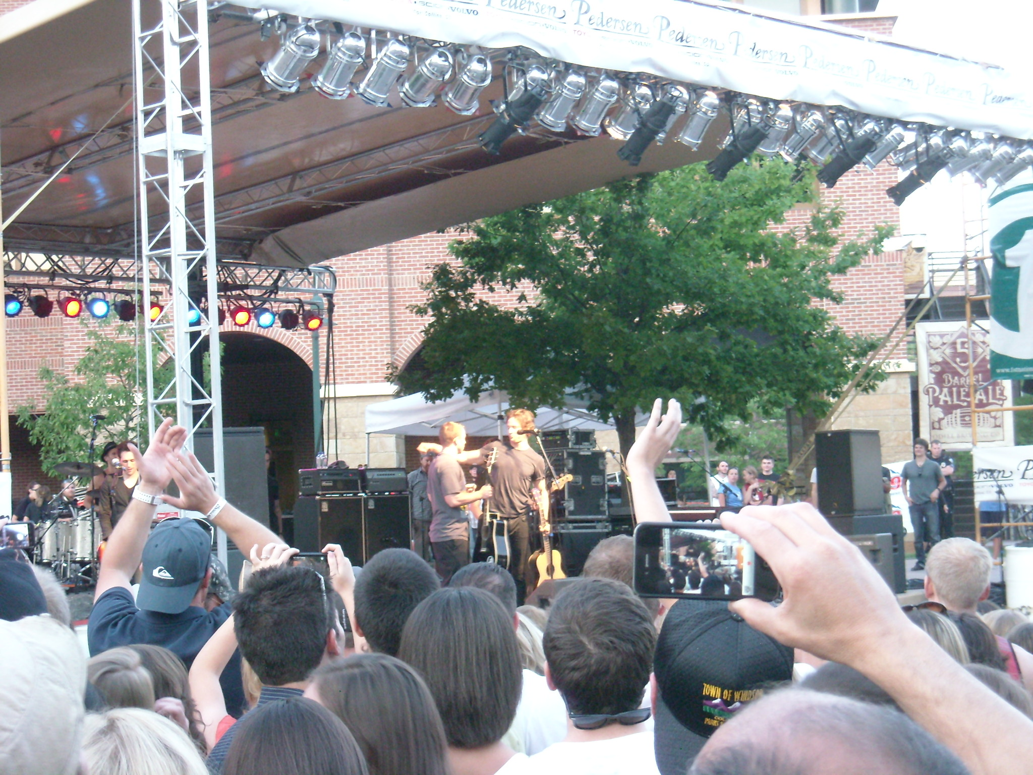 "The guy on the left on the stage (Chris) was a Fort Collins resident who brought his guitar to the show.  In the middle of ""Jumper,"" Third Eye Blind invited him up to jam with them."