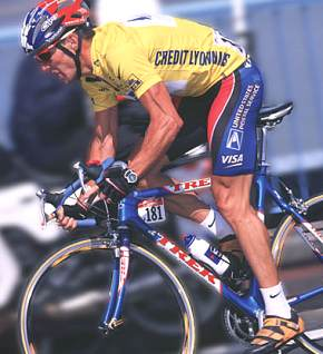 b2a94379fc8 In 1999, Lance Armstrong won his first Tour de France, which was also the Lance  Armstrong on his Trek 5900 in the 2001 ...
