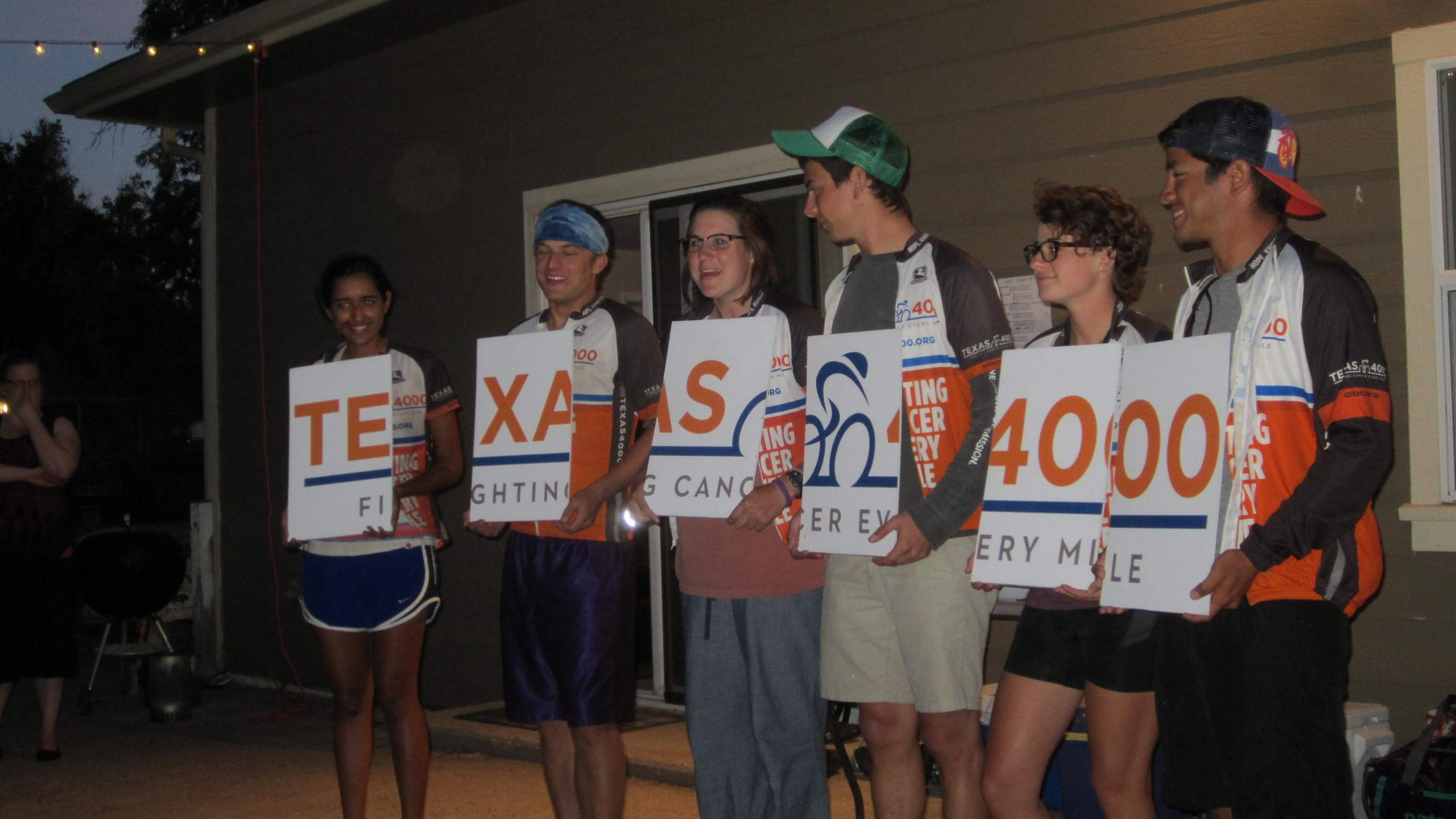 University of Texas at Austin students giving a presentation about the Texas 4000 and their cause against cancer.