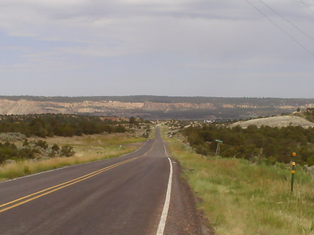 Day 24: Screaming descent into Cuba, NM, with more highway down to Grants.  A 170-mile day!