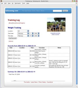 Featured photo for Creating My Training Log
