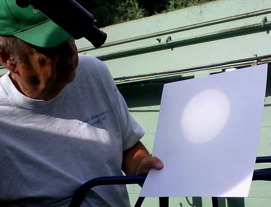transit of Venus, black spec on piece of paper