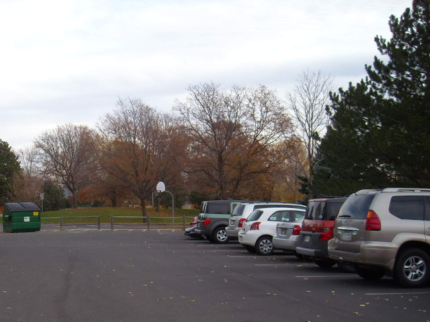 Warren Park, parking lot, Fort Collins