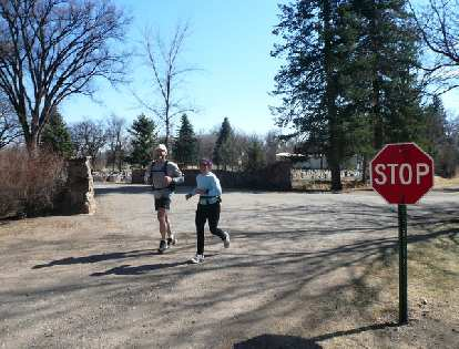 """Jeff and Alene about to cross the """"finish line"""" and could STOP!"""