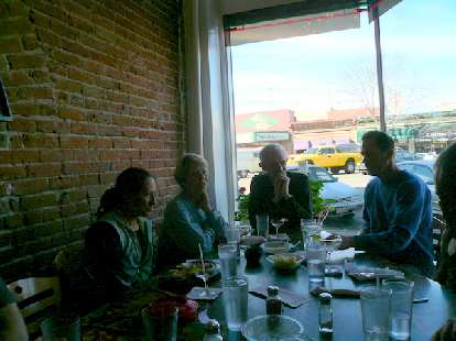 Alene, Cathy, Tom, and Dennis after good food and fun times at Rio Grande.