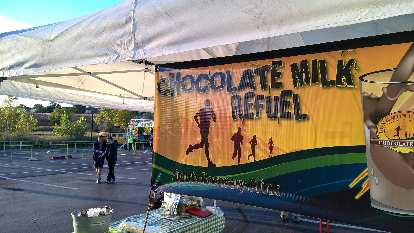 Chocolate Milk Refueling station at the All-Out Fallfest races.