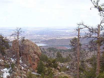 Great view of the Horsetooth Reservoir and Fort Collins below.