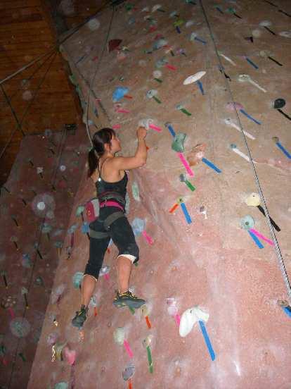 Alyssa higher up on the 5.10.