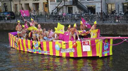 A boat during the Gay Pride Parade.