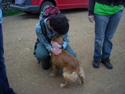 Sarah giving Bobby a hug in Lachatao