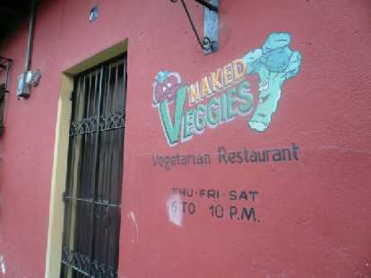 The Naked Veggies Vegetarian Restaurant was right around the corner from my hotel.  Too bad it was closed; I would have loved to have tried it even though I eat meat sometimes.