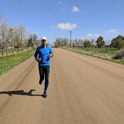 As a second-to-the-last training run for the Colorado Marathon, Antxon and I ran five miles on the dirt roads and trails around my neighborhood.