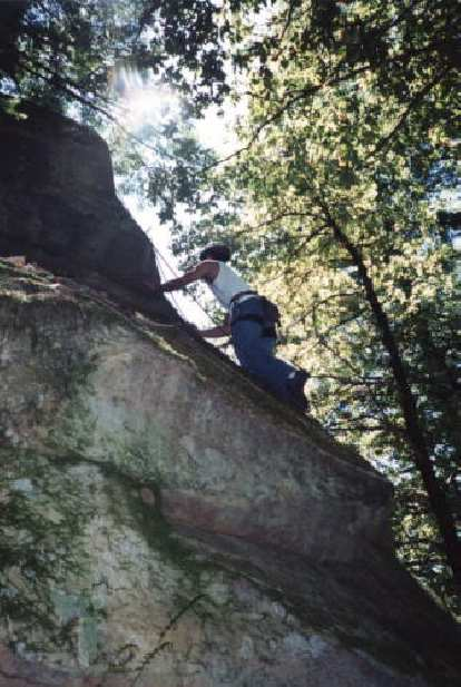 Now on toprope, Felix Wong tries the same climb again.