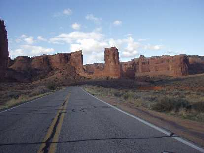 It was a splendid 22 mile drive through Arches back to Moab.