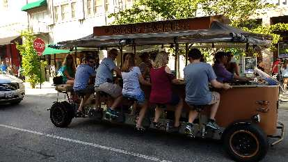 Asheville, like Fort Collins, has a pubcycle!