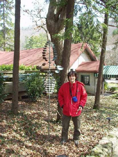 We then went to the Grove Park Inn where I had hoped to visit the Antique Automobile Museum.  We found it okay, but it turned out to be closed!  Here's Franco outside the auto museum.
