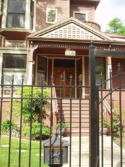 Since crime is an issue in all of stockton, wrought-iron fences are not uncommon.