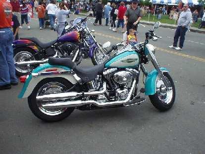 A custom Harley.