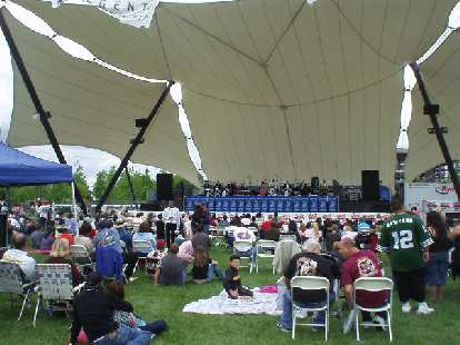 There were a few bands at the Asparagus Festival.