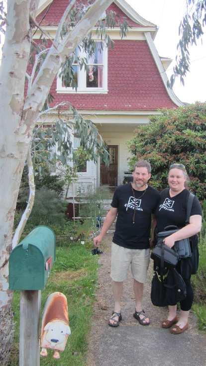 Corey Harn, Heather Douglas, black Arrrstoria T-shirts