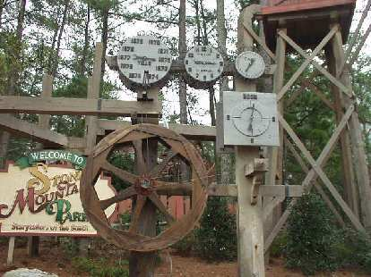 This was a water clock in the little village at Stone Mountain.  It was at least 133 years off!