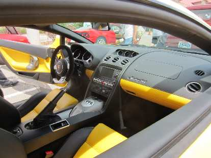 The interior of the Lamborghini Gallardos was the most luxurious and stylish of any car here.