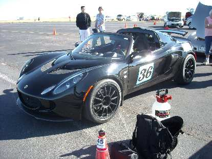 This Lotus Exige was parked next to us on the starting grid.