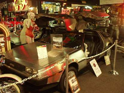 The first car in the museum was a De Lorean DMC-12.  This was ironic considering John Delorean just passed away 6 days ago on March 19, 2005.