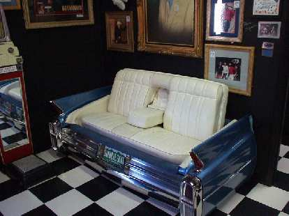 Who knew a Cadillac rumble seat would make for a nice sofa?