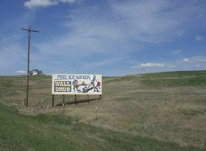 [Mile 98, 2:18 p.m.] Free ice water is what made Wall Drug famous during the Great Depression.