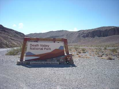 Heading into Death Valley National Park.